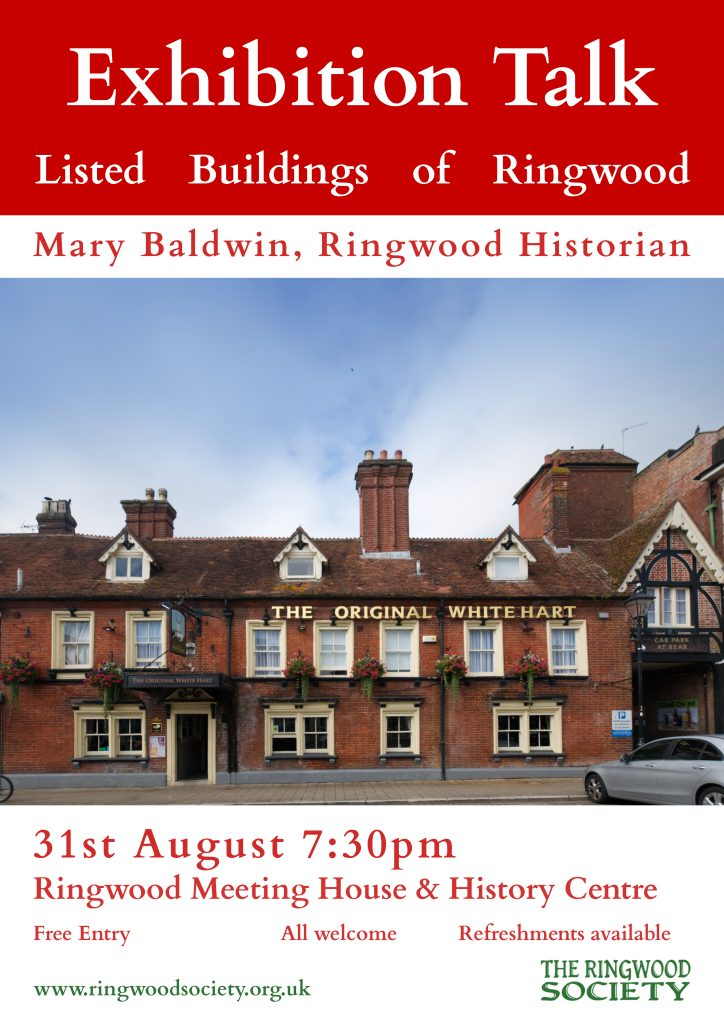 Listed Buildings of Ringwood Talk by Mary Baldwin